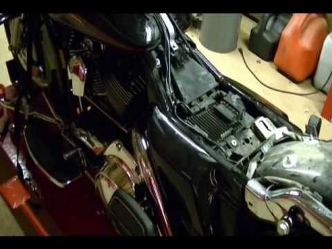 hqdefault motorcycle repair how to replace the fuel filter on a 2008 harley  at crackthecode.co