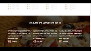 #6 Testimonials section using HTML 5 CSS3 & Bootstrap