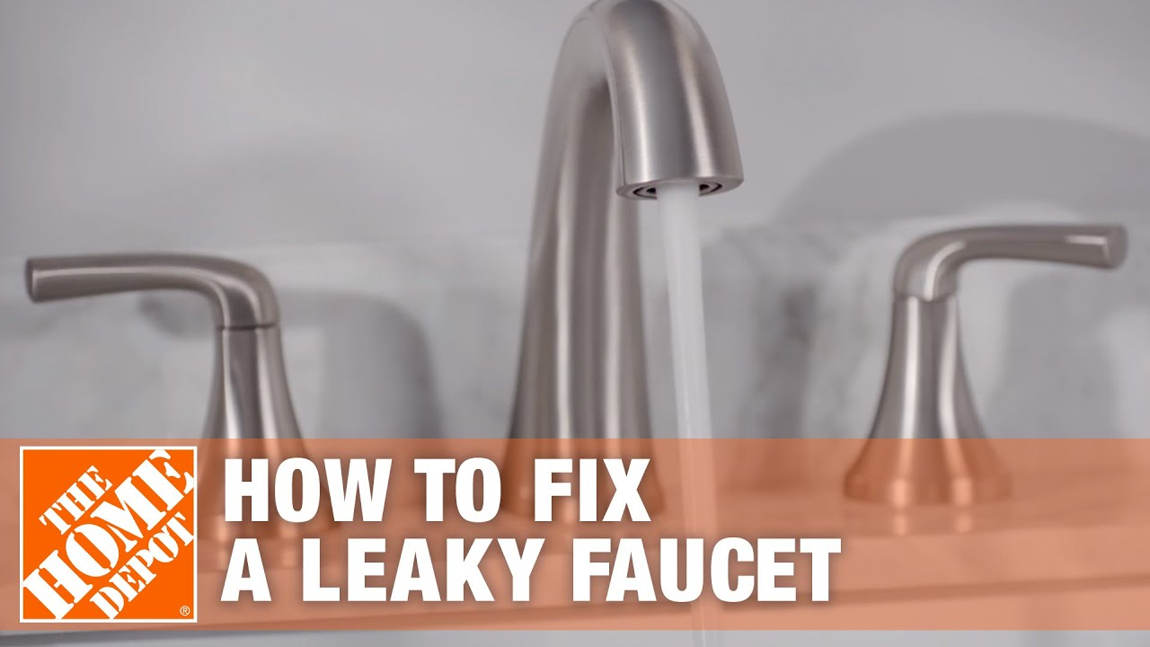 how to fix a leaky kitchen sink faucet how to fix a leaky faucet the home depot youtube 9426