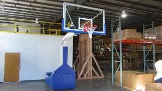 Hurricane™ Portable Basketball Goal Rigidity - Ball Bounce Demo