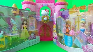 Hello Kitty Castle With Cinderella And Belle Disney Playset Uk Toy Unboxing