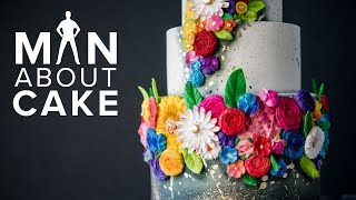 Colorful Bas Relief Wedding Cake | Man About Cake 2018 Wedding Season with Joshua John Russell