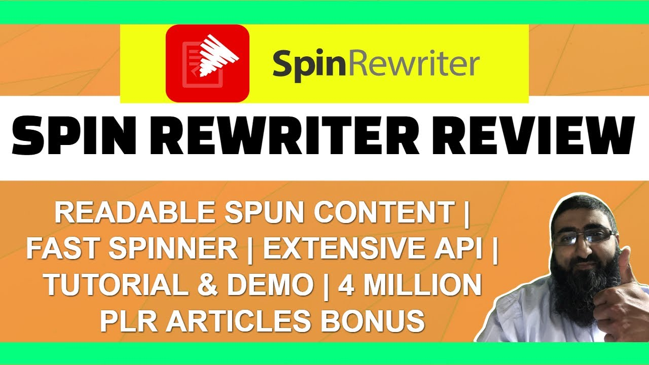 Download Spin Rewriter Review | Demo | Tutorial | Discount | Massive Bonus Pack