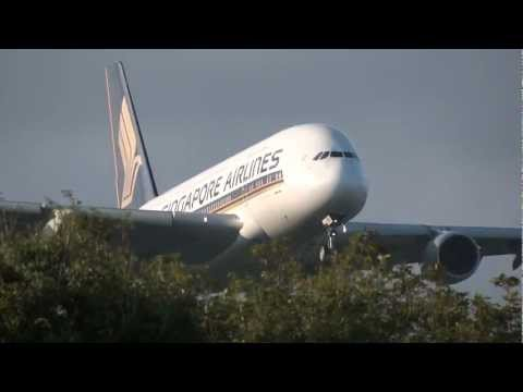 Singapore Airlines A380 Landing at Tokyo International Airport