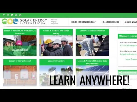 Solar Energy International (SEI) Launches New Online Learning Platform for  Solar PV Training