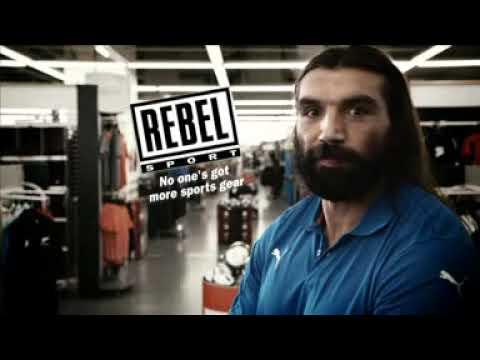 Publicité REBEL SPORT 1  - Sébastien Chabal - Rugby