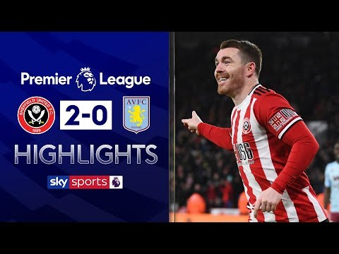 Fleck brace gives Blades victory | Sheffield United 2-0 Aston Villa | Premier League Highlights