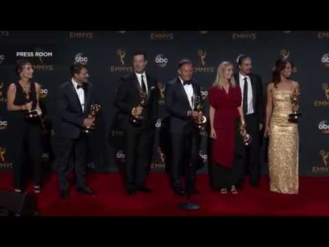 """Emmy winning producers of """"The Voice"""" in the press room - 2016 Primetime Emmys"""