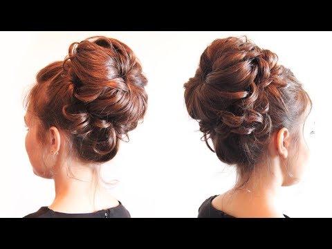 Причёска для фотосессии с валиком - Hairstyles by REM