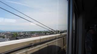 上越新幹線「とき330号」東京行きが新潟駅を発車(車内より)