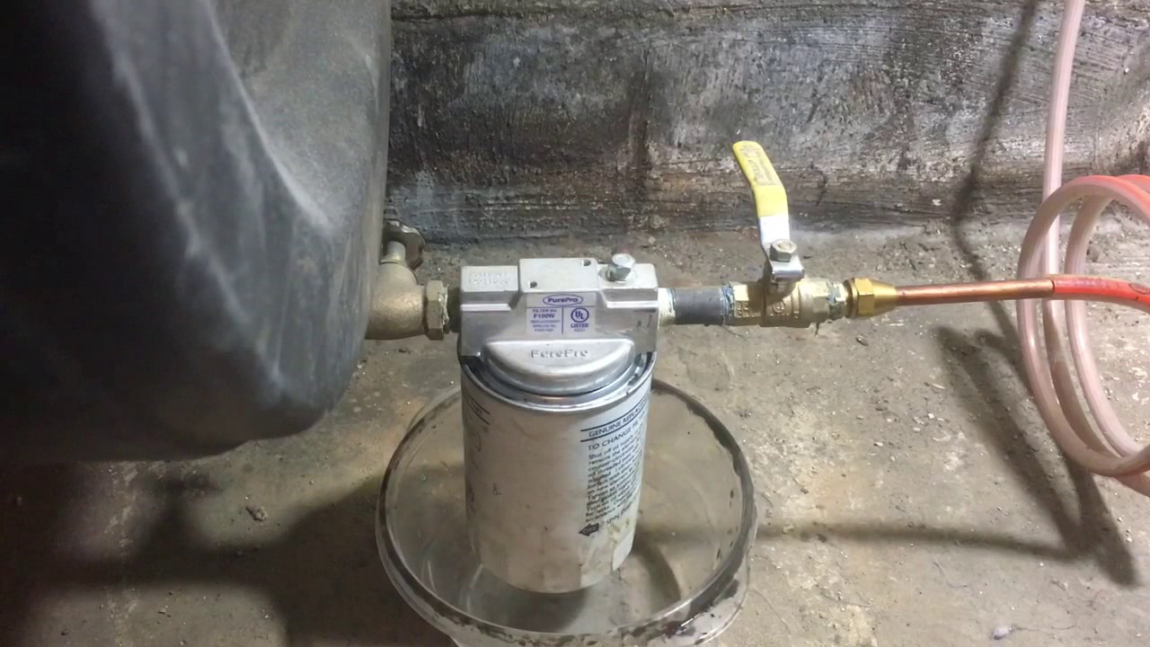 how to replace an oil tank filter [ 1280 x 720 Pixel ]