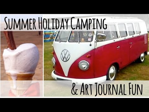 Travel art journal and Traditional British Seaside holiday Vlog August 2013