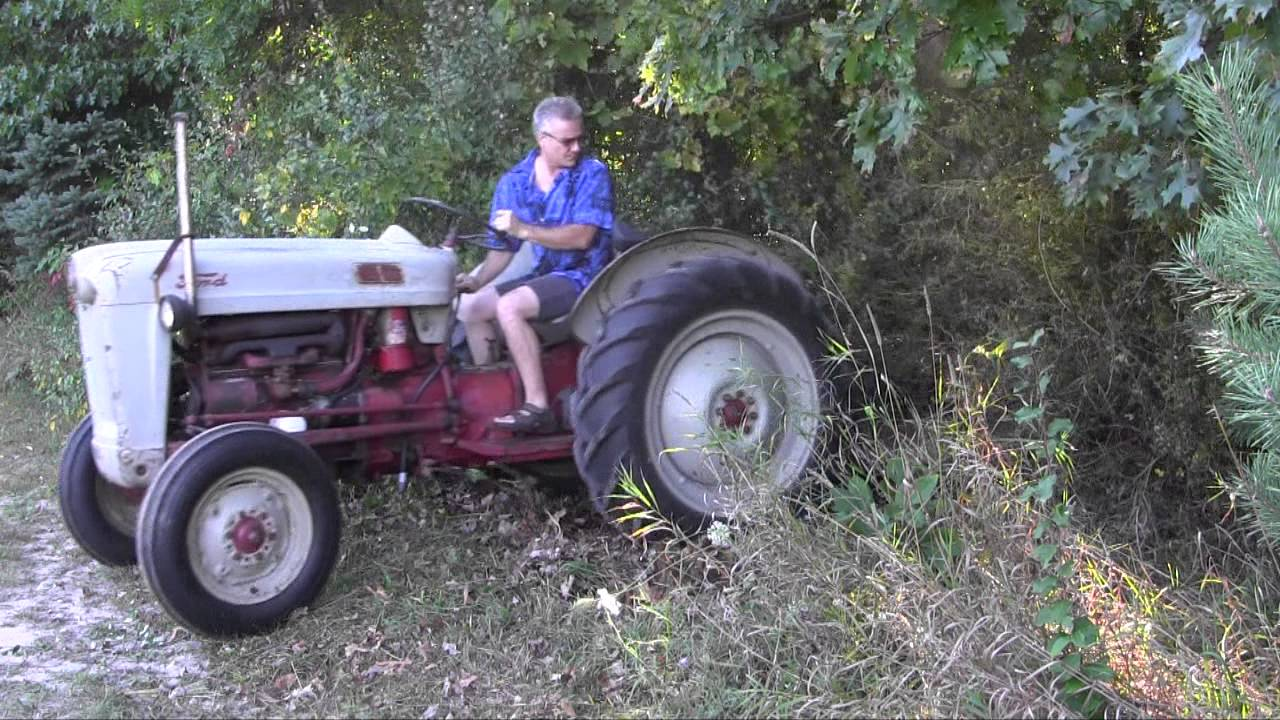 Brush Hog A Rose Bush Ford Jubilee Tractor Youtube