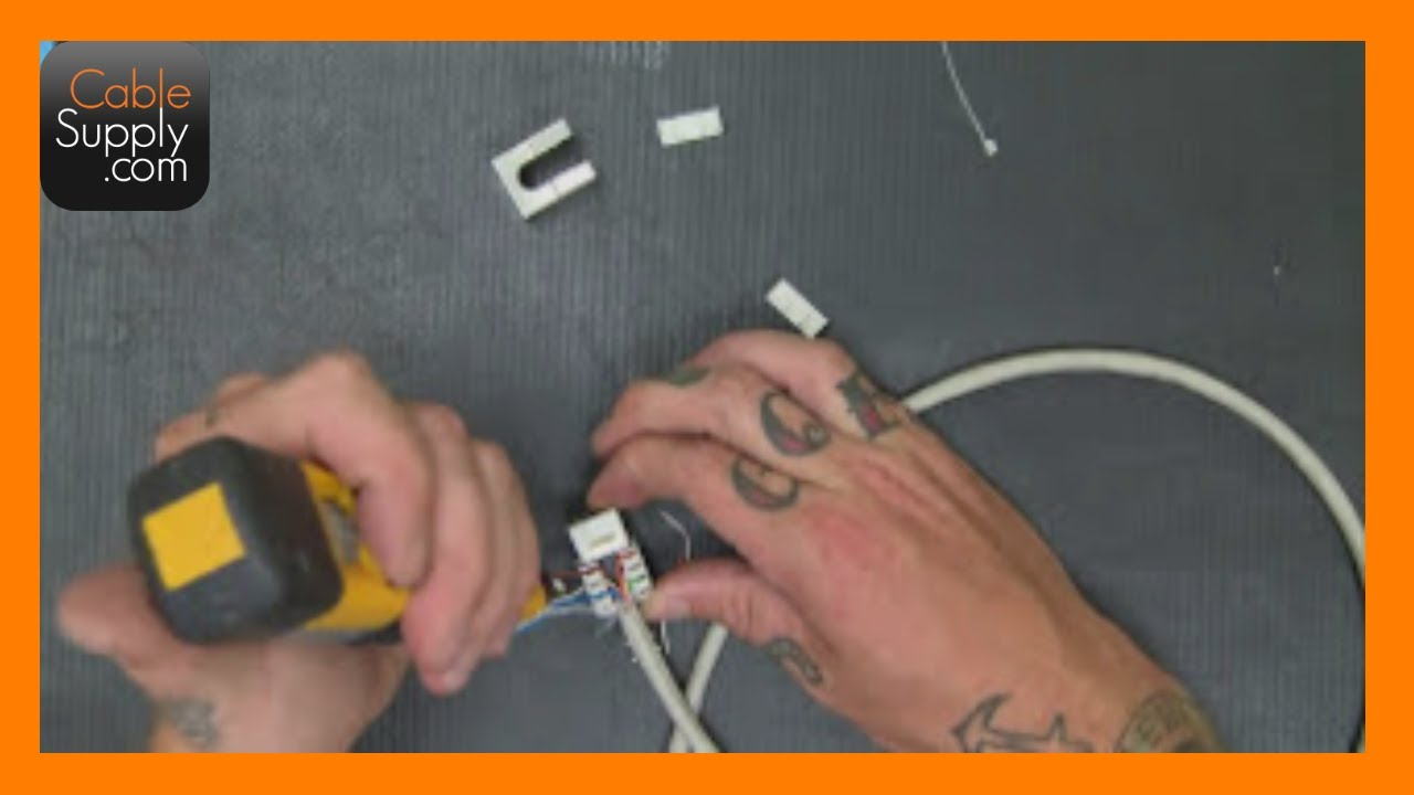 Terminating Shielded Cat6 Part 2 - YouTube