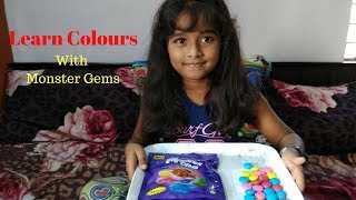 Learn Colours with Monster Gems For Kids || Colours For Children || #Learn Colours || Hasini Roy