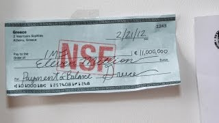 Embarrassing Bounced Check From Greece Taped Up In IMF Headquarters