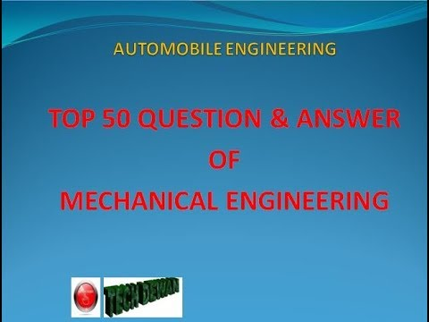 AUTOMOBILE ENGINEERING TOP 50 SECRET QUESTION SUGGESTION, MECHANICAL ENGINEERING