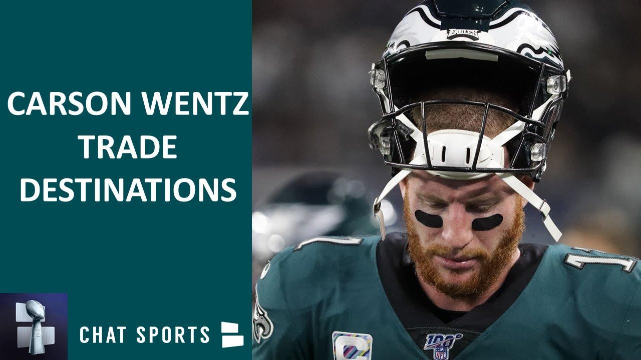 Trade destinations for Philadelphia Eagles quarterback Carson ...