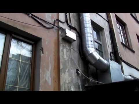 Вентиляция кафе шумоизолированным вентилятором