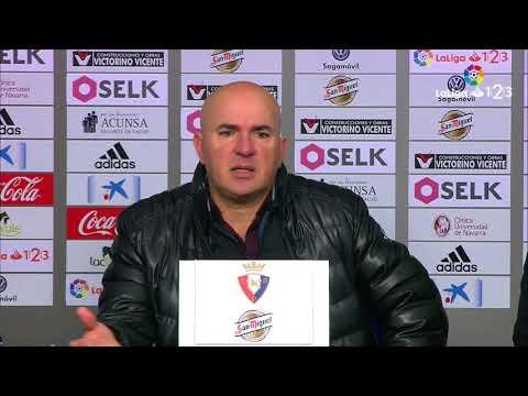 Rueda de prensa de Luis César Sampedro tras el Osasuna vs Real Valladolid (4-2)