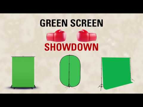 Green Screen Showdown - Elgato Green Screen vs  Pop Up Green Screen vs   Green Screen Backdrop