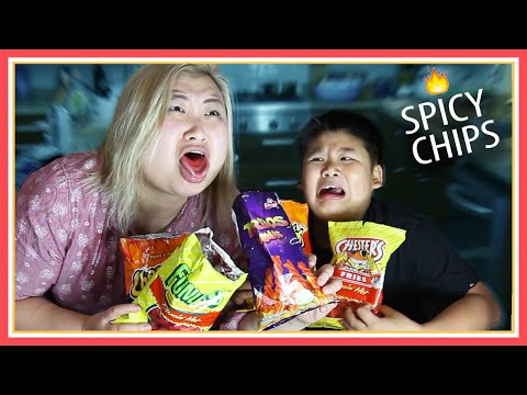 Tasting Flamin&39; Hot Chips Challenge ft Crew - MadewithSoyy