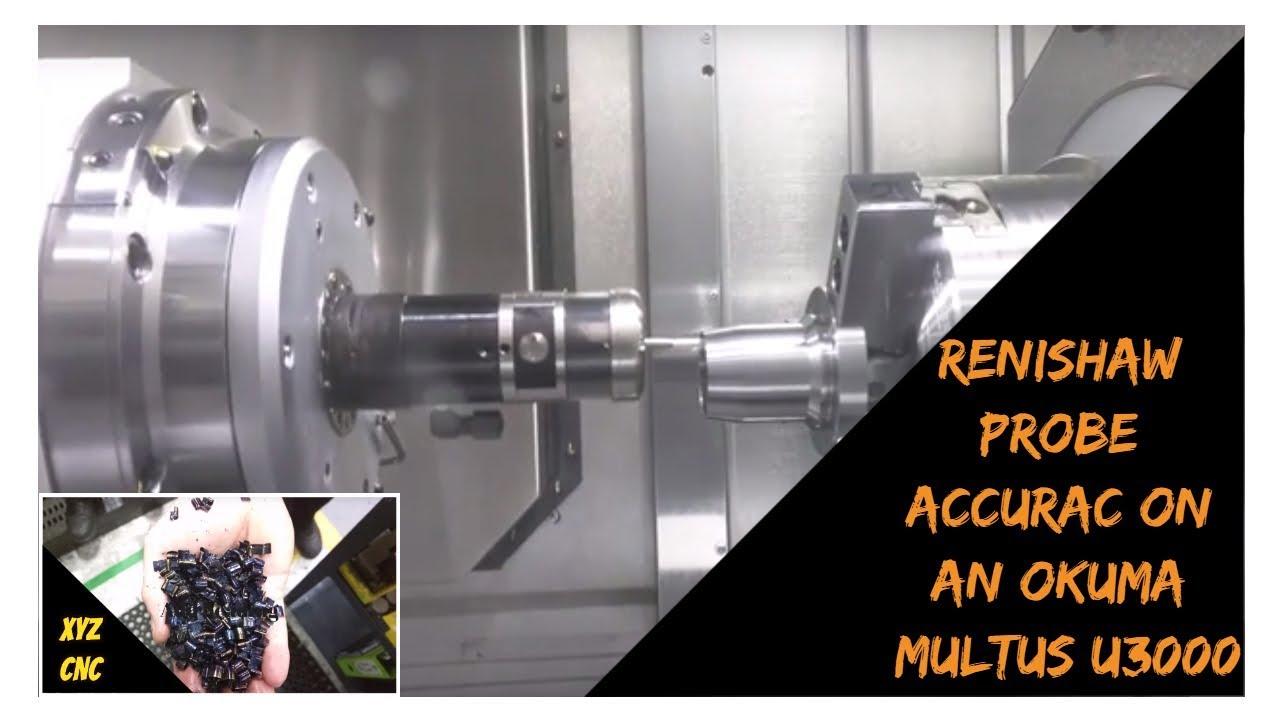 Probe accuracy test CNC machine - YouTube