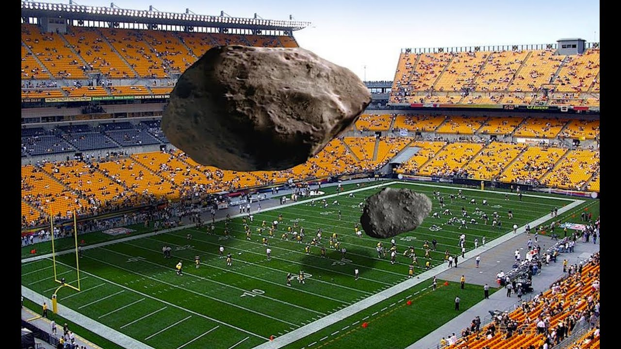 Football Field sized Asteroid 2017BVT14 coming in behind