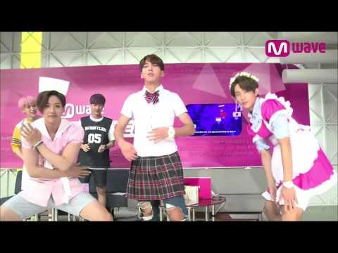 B1A4 C.Nu as Sexy Nurse, Baro in Girl's HS Uniform, and Princess Gongchan! [MEET&GREET]