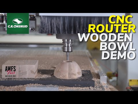 CNC Machining a Wooden Bowl on a 3-Axis C-Series Twin-table CNC Router by C.R. Onsrud