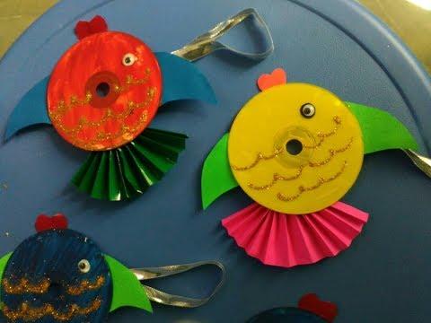 DIY - Fish By Using Waste CD   Innovative Artsncrafts