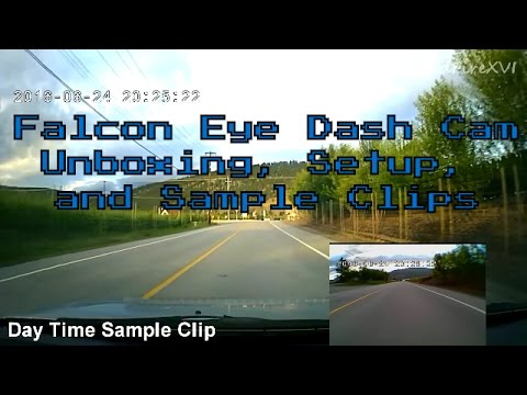 Falcon Eye Dash Dual Cam Unboxing, Setup, And Sample Clips