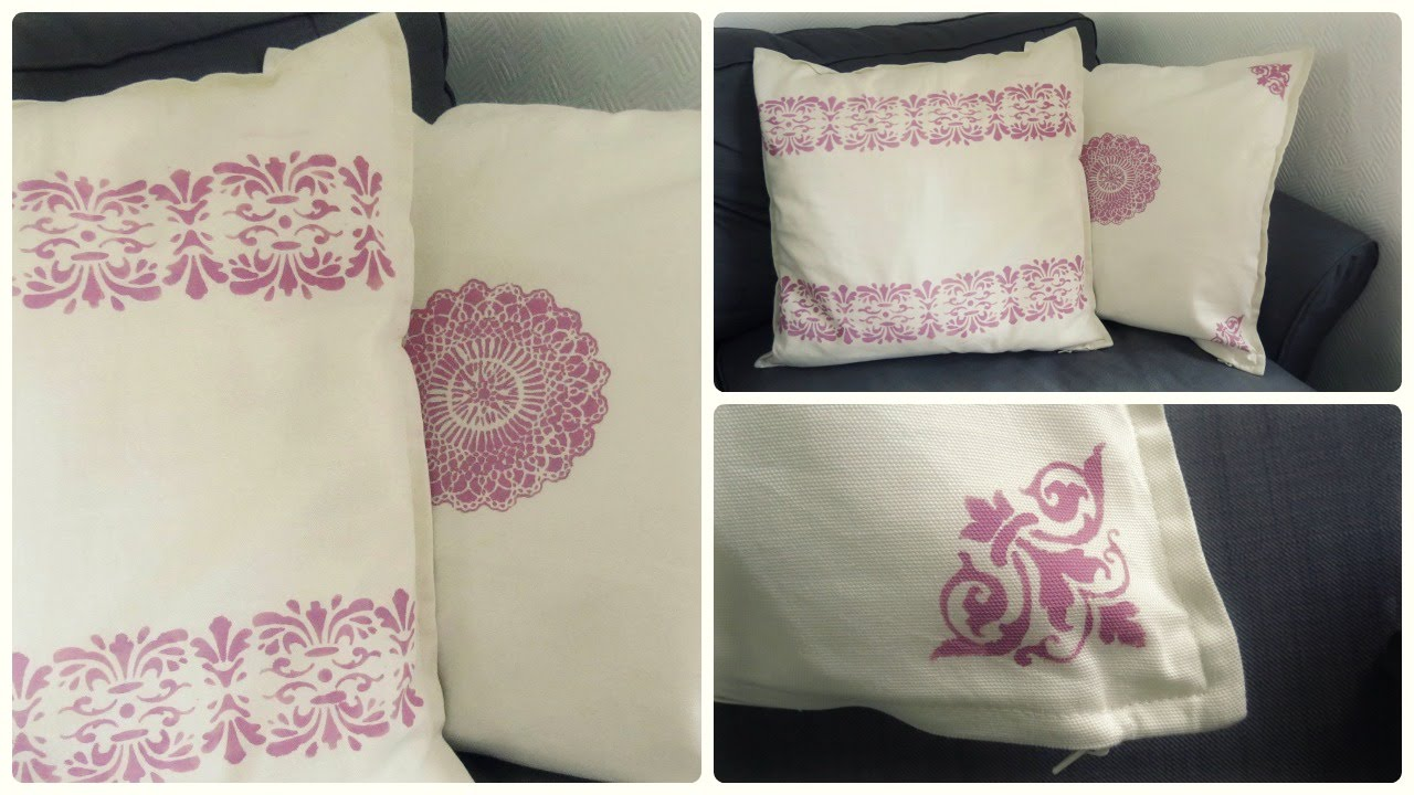 Textilfarbe Auf Kissen * Fabric Paint DIY [eng Sub]   YouTube