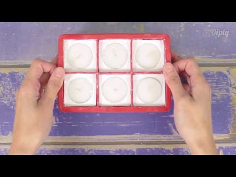 DIY Plaster Square Candle Holder | Crafty