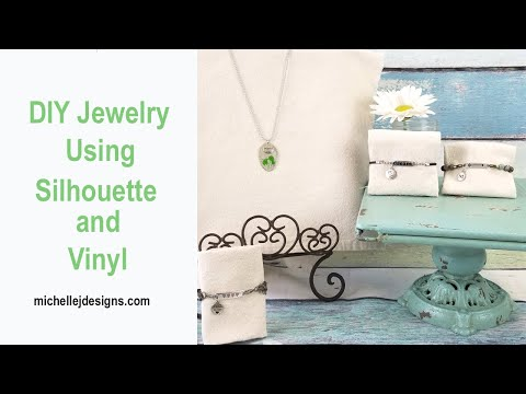 DIY Jewelry Using Silhouette and Vinyl