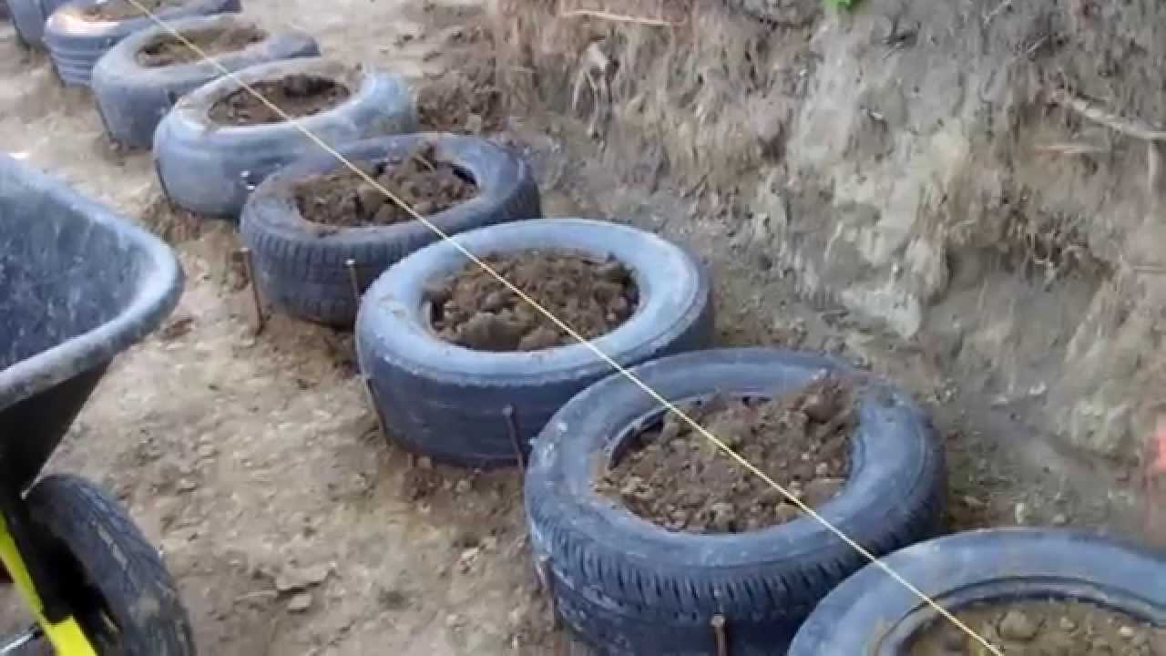 Tire Wall construction begins - YouTube