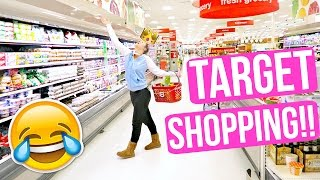 TARGET GROCERY SHOPPING + BEHIND THE SCENES FILMING!!!