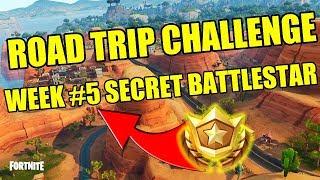 Fortnite Road Trip Challenge Secret Battlestar Location (Week #5)