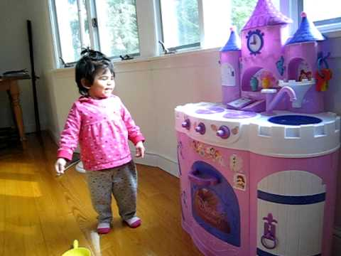 Excited by a Disney Princess Magical Kitchen