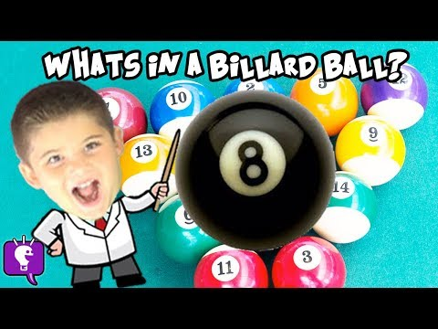 What's Inside A BILLIARD BALL? HobbyScience Lab With HobbyKids