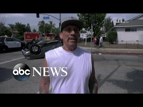 Hilary - Danny Trejo saves special needs child trapped in overturned car