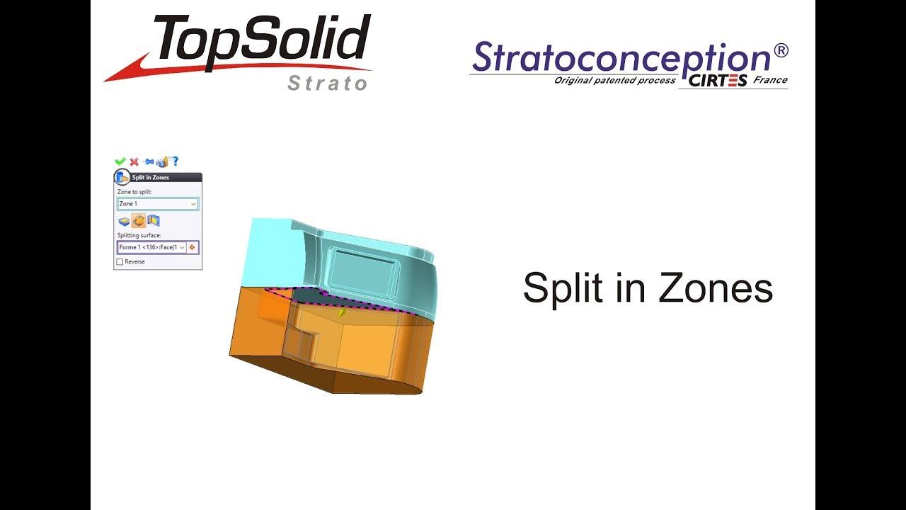 Altezza Posizionamento Split topsolid'strato 7.13 - tutorial 2-split in zones