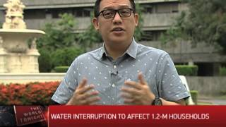 Water interruption to affect 1.2-M households