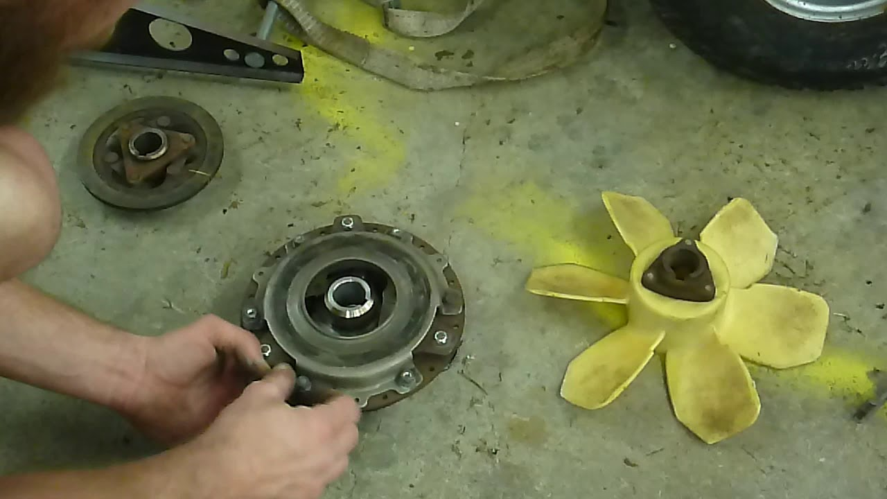honda ht3813 pto clutch replacement super easy!