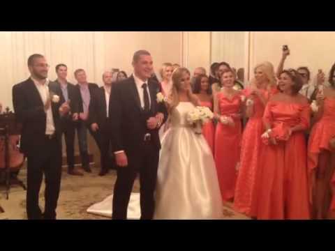 Свадьба Ксении Бородиной и Курбана Омарова. ВИДЕО ИЗ ЗАГСА