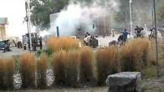 Toronto Travel: Movie shoot with explosion at Cherry Beach