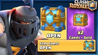 OPENING BOOSTED CROWN CHEST & MAX CLAN CHEST :: Clash Royale :: BOOSTED CHEST OPENING!