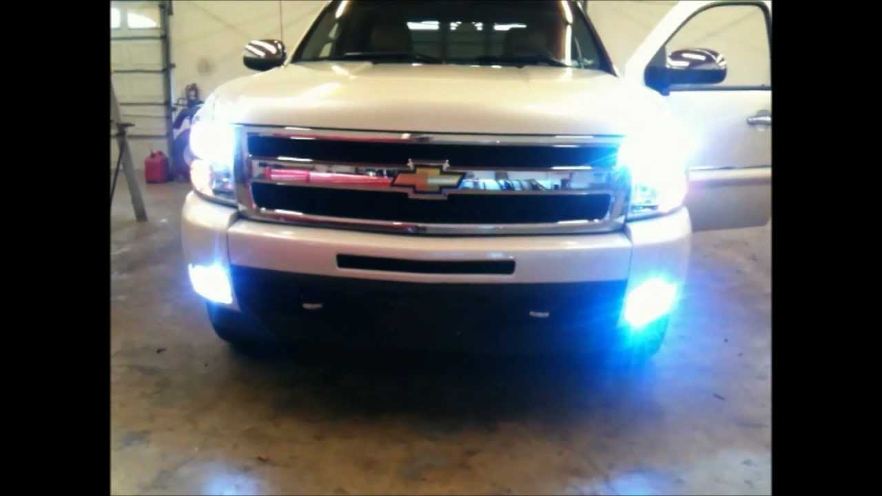 HIDs H11 LOWs AND 5202 FOGs INSTALLED ON 2011 CHEVY SILVERADO CAR     HIDs H11 LOWs AND 5202 FOGs INSTALLED ON 2011 CHEVY SILVERADO CAR AUDIO