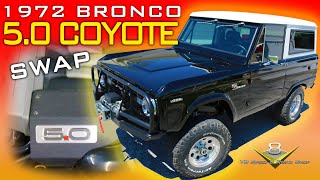 Restomod Early Ford Bronco 5.0 Coyote V8 Engine Swap Video at V8 Speed and Resto Shop