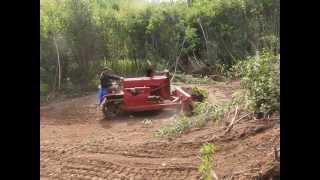 John Deere Dozer clearing land